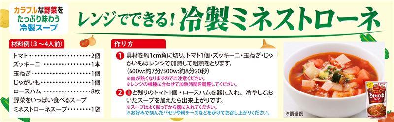 ミネストローネレシピ(冷製)